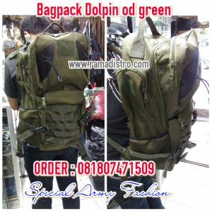 Bagpack Hiu Dolpin Od green